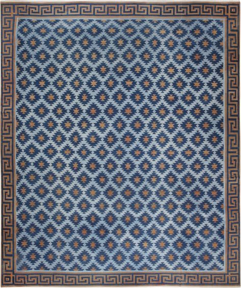 Vintage Indian Dhurrie Rug Bb5025 High Quality Materials Antiques