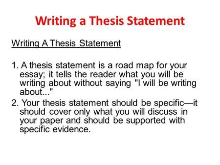 Writing A Thesi Statement Essay Structure How To Write For Research Paper Ppt