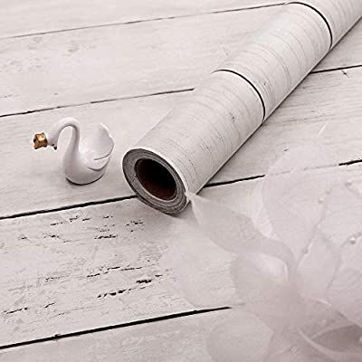 Amazon Com White Wood Contact Paper Self Adhesive Shiplap Removable Wallpaper Peel And Stick Kitchen Wood Wallpaper White Wood Wallpaper Wood Plank Wallpaper