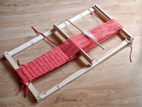 PUNTOBOBO Agujas de madera artesanales para tejer  Telar Mapuche + trapillo! c6599eb2643