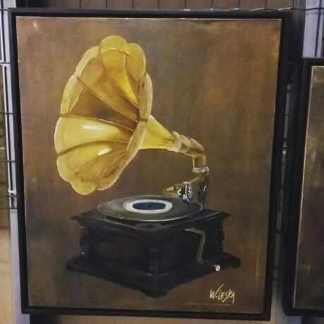 Gramophone Painting By Waleska (With Images) Painting