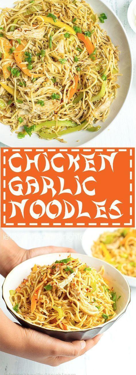 Chicken Garlic Noodles #asian #chickenrecipes #chickengarlicnoodles #chickenchowmein #chickenhakkanoodles