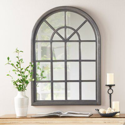 Ophelia Co Arched Traditional Accent Mirror In 2021 Mirror Dining Room Living Room Mirrors Arched Window Mirror