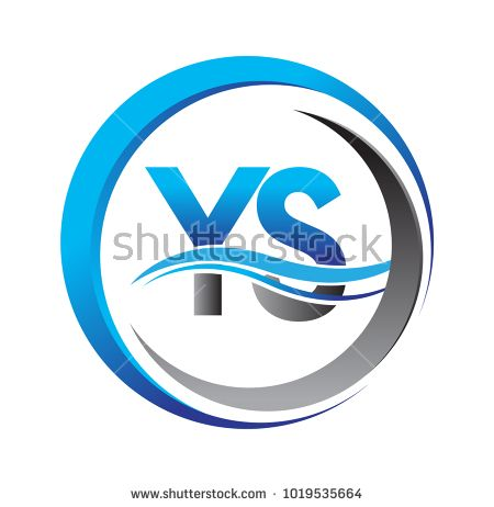 initial letter logo YS company name blue and grey color on circle