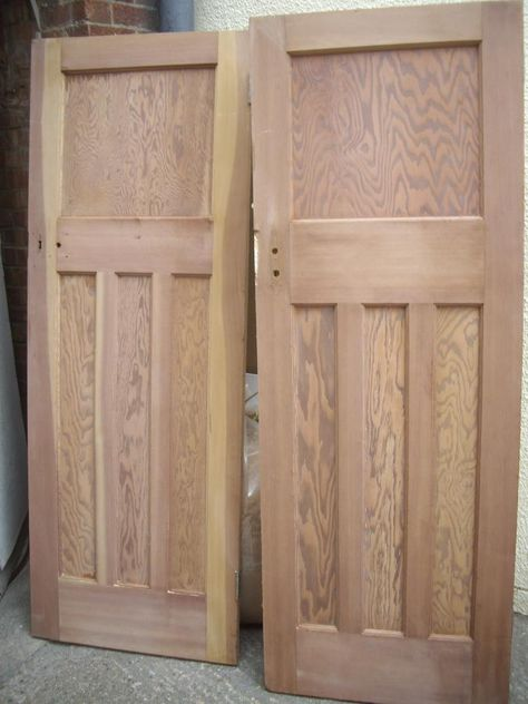 reclaimed 1930s doors.  Chester paint stripping