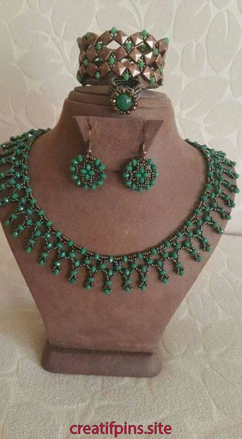 Best 12 Free pattern for necklace Tayana