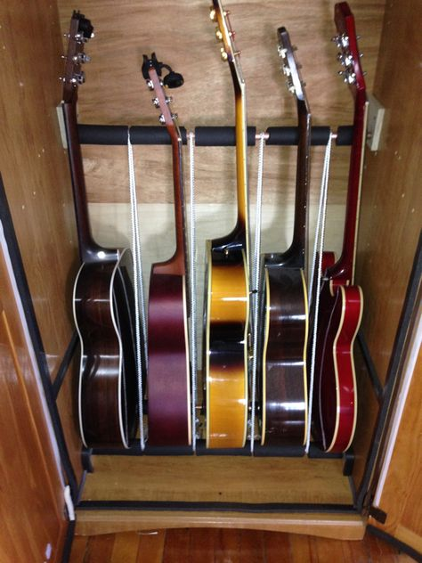 How To Build An Inexpensive Humidified Guitar Cabinet Dan Guitars Guitar Storage Guitar Storage Cabinet Guitar Cabinet