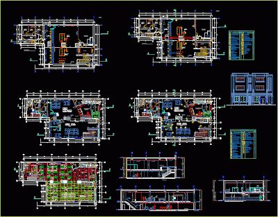 Plan Autocad DUn Magasin Commercial Dwg  Autocad And Architecture