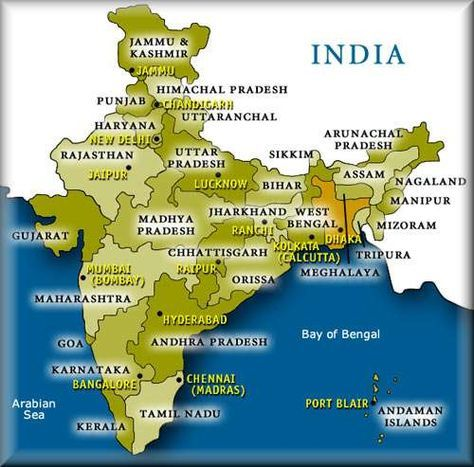 States And Capitals List Of States Comprising Twenty Eight States And Seven Union Territories Union Territory States And Capitals India World Map