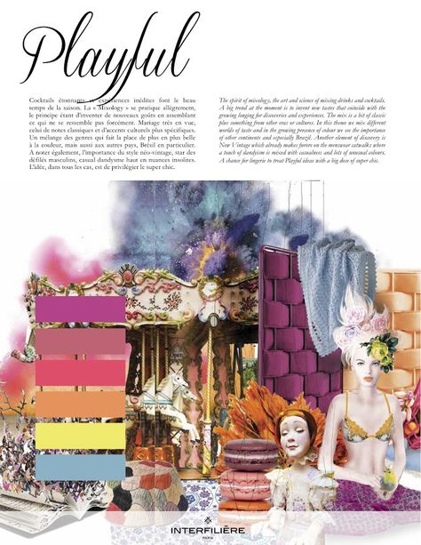 Inspiration: Playful from Interfilière Fashion & Color Trends Autumn/Winter