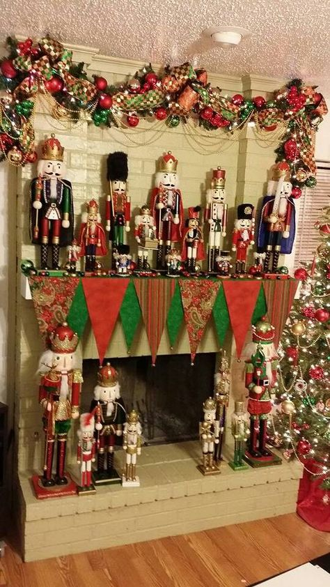 I'm a little obsessed with nutcrackers, and my mantle scarf.