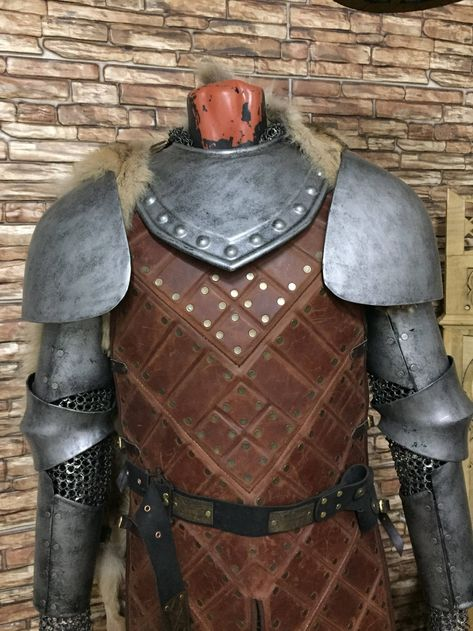 Robb Stark's Armor: Arms protection and Gorget | Etsy