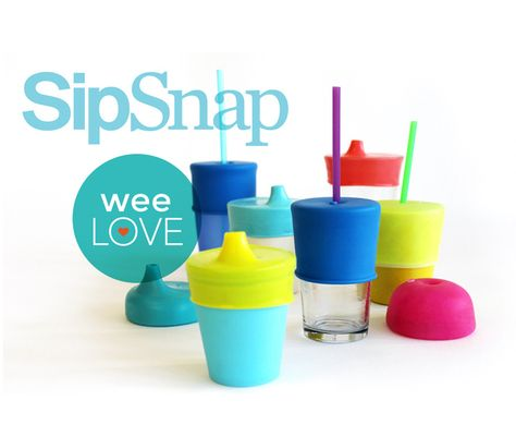Sip Snap: turn any cup into a sippy cup... perfect for traveling