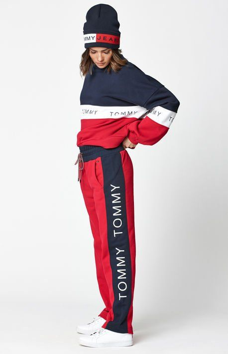 Straight Leg Jogger Pants Tommy Hilfiger Outfit Tween Fashion Trending Tommy Hilfiger Pants