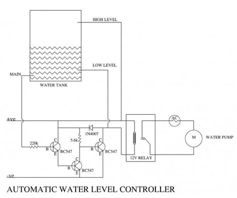 1 Automatic Water Level Controller 5 Steps With Pictures In 2020 Circuit Diagram Home Automation Water Pumps