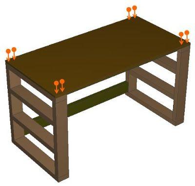 ツーバイspf材 2x4材 の簡単diyで予算5 000円で丈夫な机を作る 設計図 手順を無料で公開 ダイニングテーブルにも 2x4材のdiyロフト ベッドを1万円 二段ベッドを1 5万円でdiy超初心者が自作できる 作り方を完全解説する手順書 インテリア 家具 インテリア