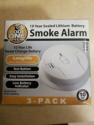 Advertisement Smoke Alarm Detector 3 Pack 10 Year Lithium Ion Battery Operated Code One I9010 Smoke Alarms Lithium Ion Batteries Lithium Battery