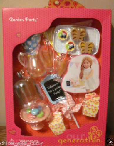 "American Our Generation Garden Party Lemonade Kitchen RV Food 18/"" Girl Doll set"
