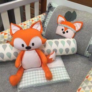 346d6716128eb8 Resultado de imagem para protetor de berço raposa | Дети | Decoração ...