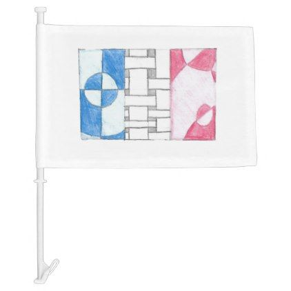Hand Drawn French Red White Blue Flag Zazzle Com How To Draw Hands Red White Blue Red And White