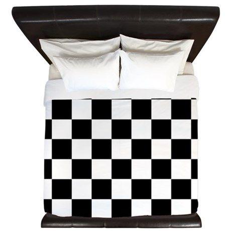 Checker Flag Race King Duvet By Admin Cp11861778 Cafepress In 2020 Sports Bedding King Duvet Cheap Bedding Sets