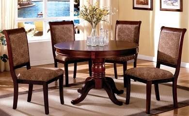 Stnicholas Ii Antique Cherry Round Pedestal Dining Room Set Entrancing Hamlyn Dining Room Set Inspiration