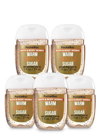 Warm Vanilla Sugar Pocketbac Hand Sanitizer 5 Pack Bath And Body