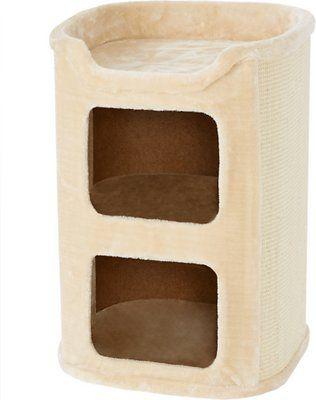 Frisco 24 In 2 Story Cat Condo Cream Chewy Com Cat Condo Cat Bed Cat Habitat