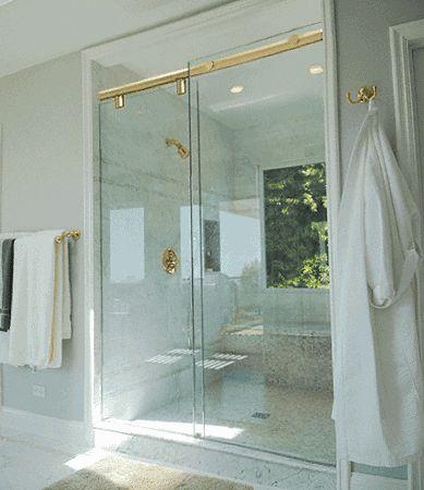 Crl Hydk60br Brass 60 Quot Hydroslide 180 Degree Sliding Shower Door Kit Shower Doors Sliding Shower Door Shower Door Kit