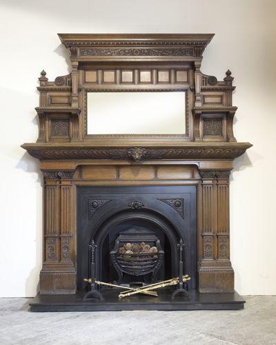 Large Antique Fireplace Victorian Fireplace Mantels Antique