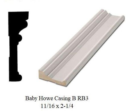 11 16 X 2 1 4 Baby Howe Casing B Rb3 Standard Door Casing Door Casing Case Howe