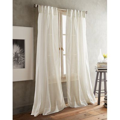 Dkny Paradox Inverted Pleat Solid Color Sheer Curtain Panels Size