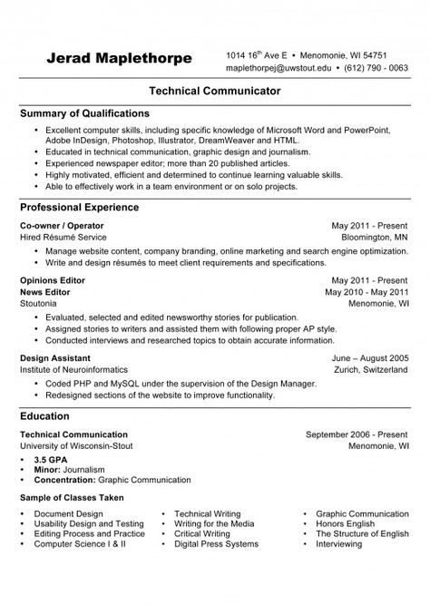 Résumé Writing References Available Upon Request, Objective - ap style resume