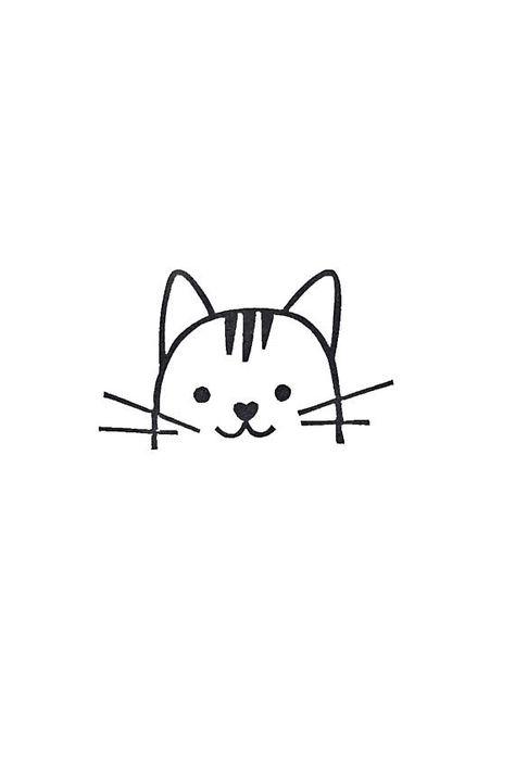 Cat rubber stamp cat birthday gift cat kids gift peekaboo