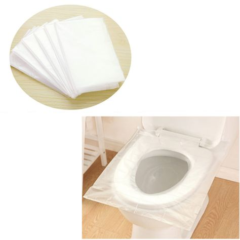 6pcs Portable Waterproof Maternity Disposable Paper Toilet Seat