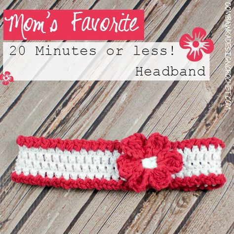 Mom's Favorite 20 Minutes or less! Headband This headband will become a favourite for you and your family! Quick to make - this headband can be made in any size and colour. Embellish as you wish or...