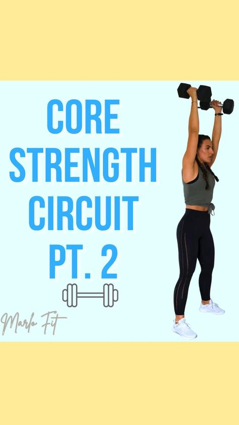 Core & Legs Strength Circuit—at home workout, abs, legs & booty exercise, resistance bands