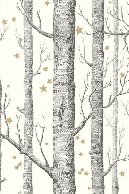 Cole Son Whimsical Collection Natural Woods Stars Wallpaper
