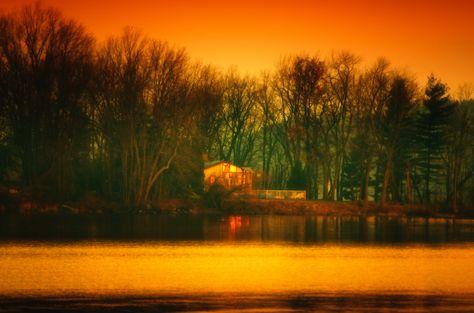 Dawn across the lake - Quebec, Canada