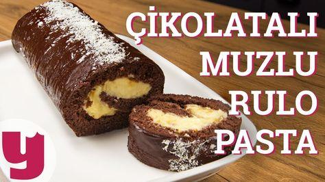 Çikolatalı Muzlu Rulo Pasta Tarifi (Sarılasın Gelir!) | Yemek.com