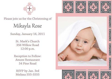 Invitation Card For Christening  Invitation Card For Christening - best of sample invitation of baptism