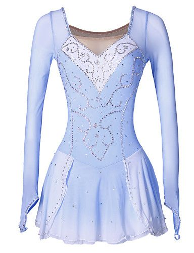 figure skating dress women/'s girl/'s ice skating dress spandex  B097
