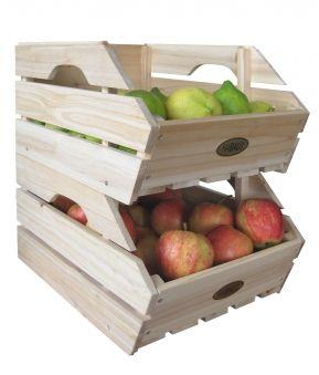 Lebensmittelkiste Habau 3-er Set stapelbar. Obstkiste Gemüsekiste