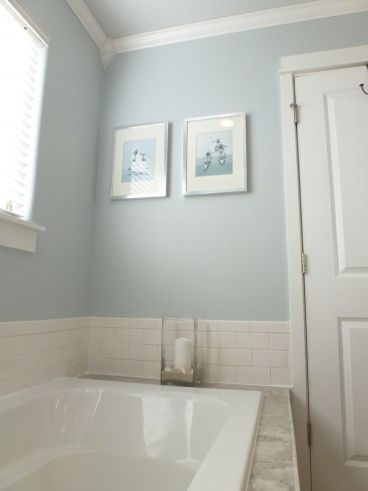Before After Bliss Our Monster Master Bathroom Renovation Master Bathroom Renovation Light Blue Grey Paint Bedroom Paint Colors