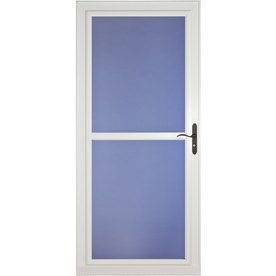 Larson Tradewind Selection White Full View Aluminum Storm Door Common 32 In X 81 In Actual 31 7 With Images Aluminum Storm Doors Storm Door Glass Storm Doors