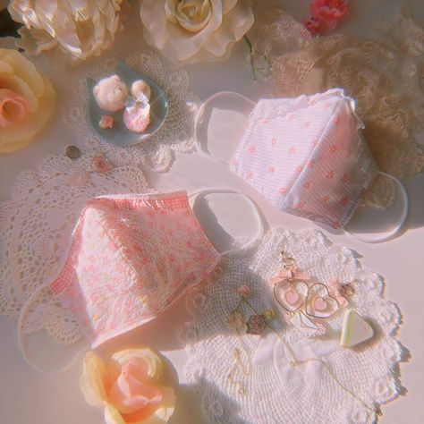 Aesthetic Vintage, Aesthetic Fashion, Cheese Dreams, Different Aesthetics, Rose Lace, Mask Making, Vintage Fabrics, Mask Design, Pretty Flowers