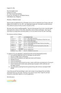 Sample Cover Letter For Schengen Visa Application At The French