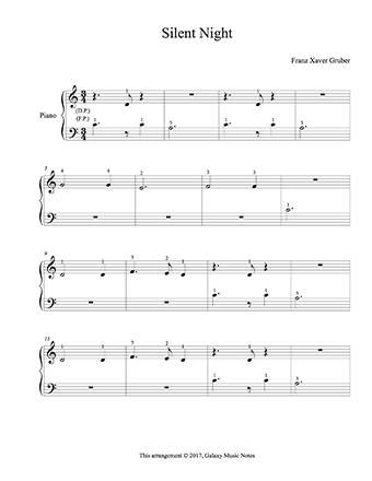 Silent Night Level 1 Piano Sheet Music Sheet Music Piano