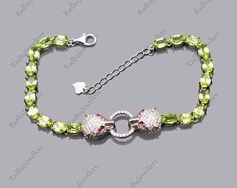 Kyanite Tennis Bracelet Natural Gemstone  925 Sterling Silver Handmade Jewelry January BirthstoneWomen Silver Bracelet Christmas Gift