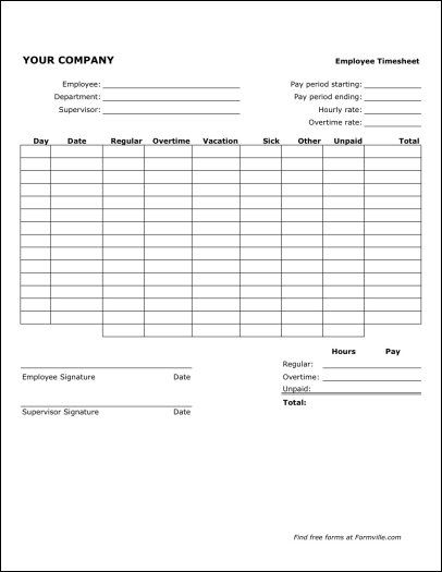 Free Bi-weekly Timesheet (Portrait) from Formville Naturescapes - sample biweekly timesheet